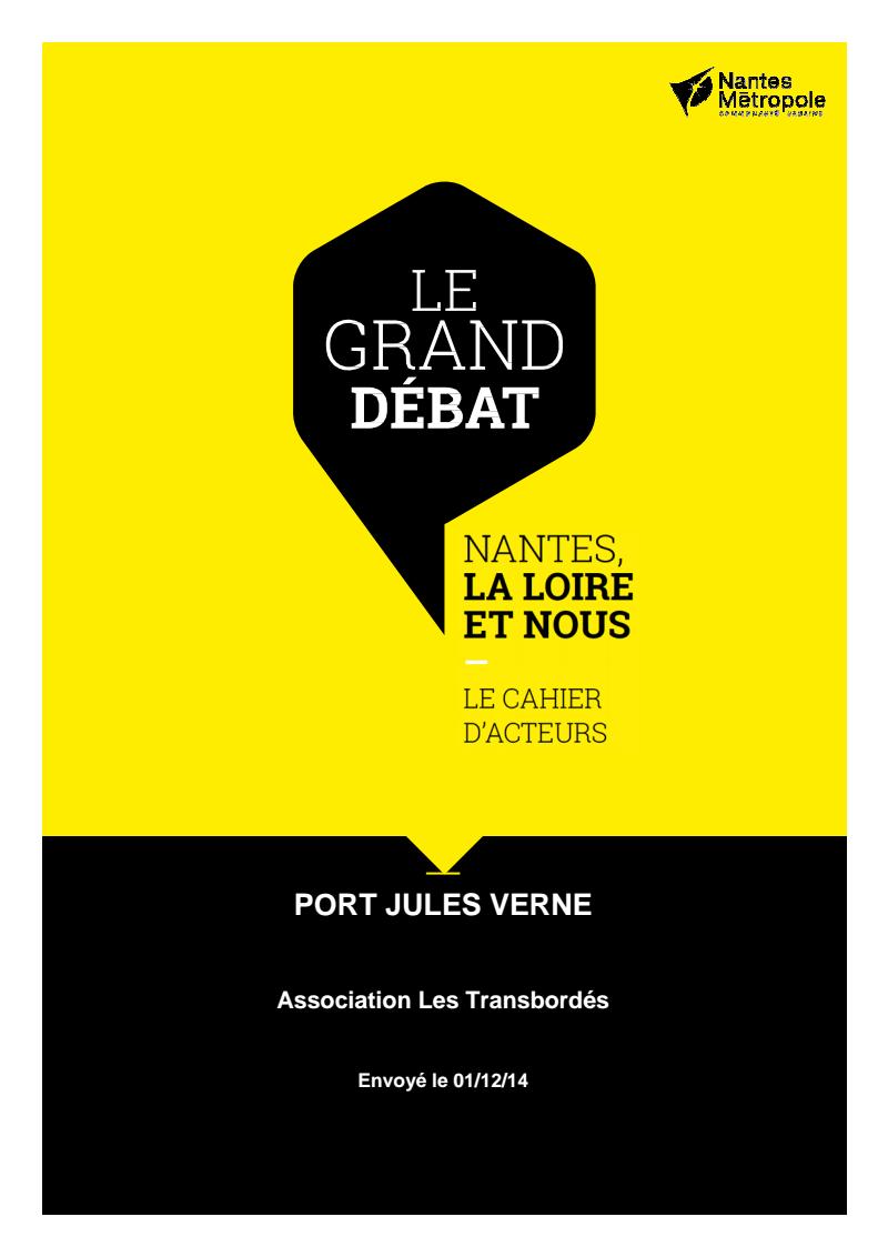 Cahier acteurs du Port Jules Verne